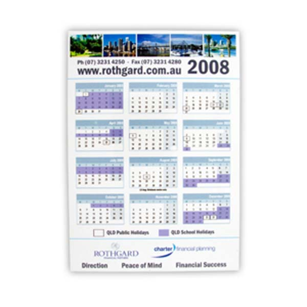 Vertical Magnetic Tab Calendar