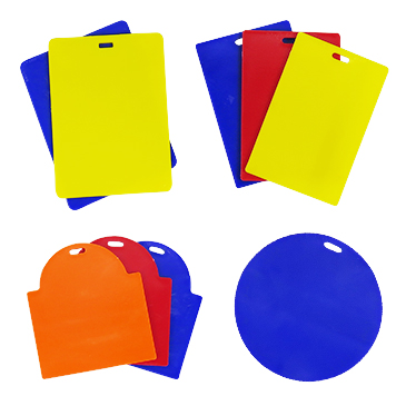 Hard Bag Tag (Round, Rectangle, Shield)