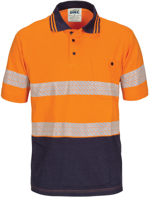DNC Hi Vis Segment Taped Cotton Polo