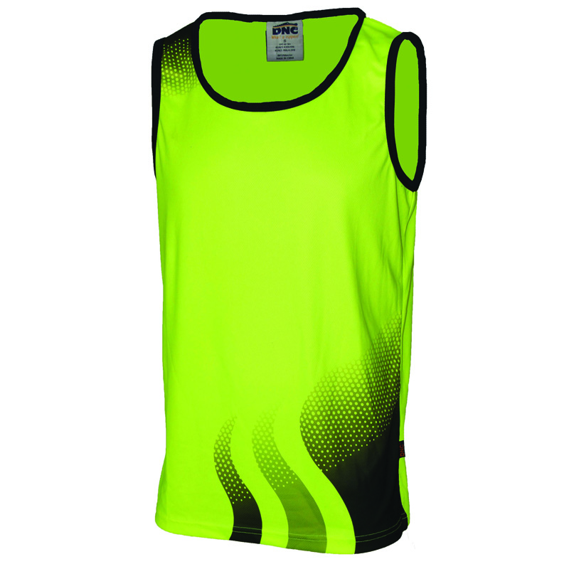 DNC Wave Hi Vis Sublimated Singlet