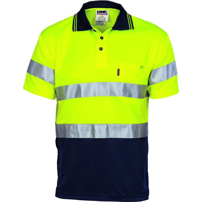 DNC Hi Vis D/D Cool Breathe Polo Shirt S/S