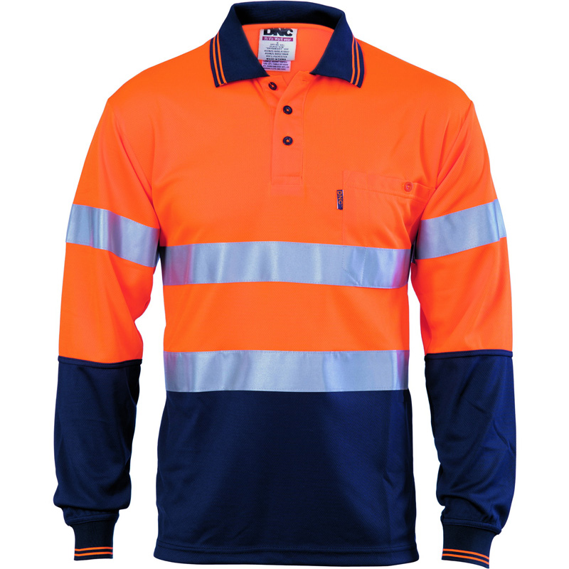 DNC Hi Vis Cool Breathe Polo With CSR R/Tape L/S