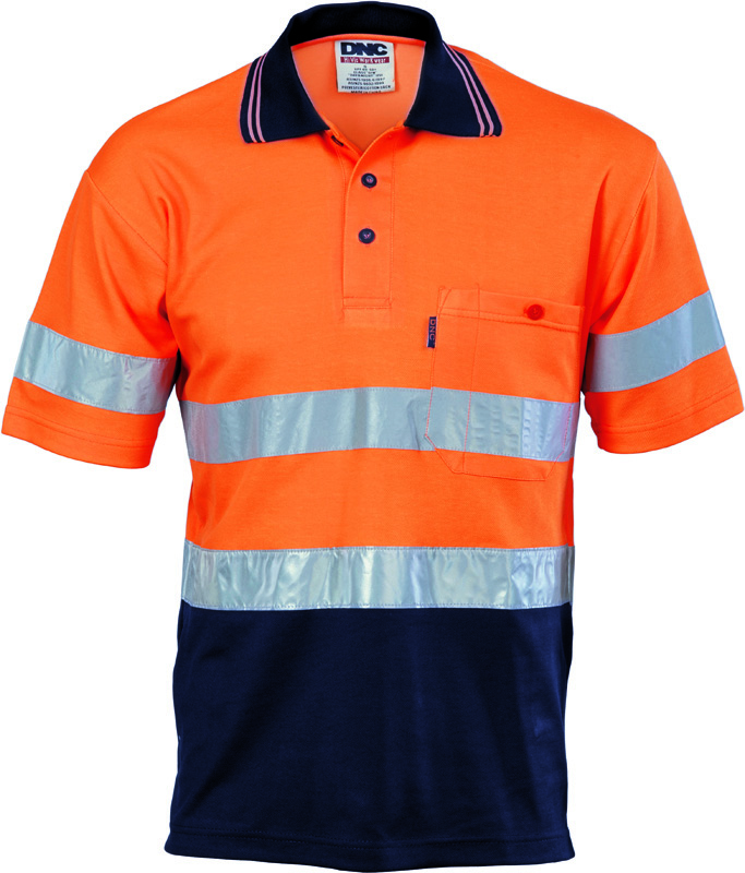 DNC Hi Vis Cotton Back Polo S/S