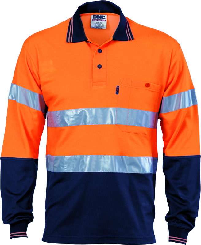 DNC Hi Vis Cotton Back Polo L/S