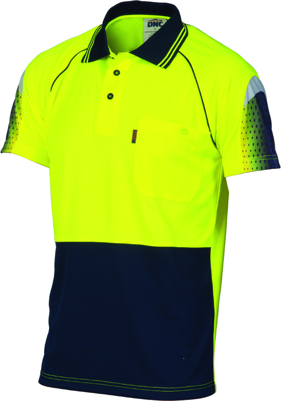 DNC Hi Vis CoolBreathe Sublimated Piping Polo S/S