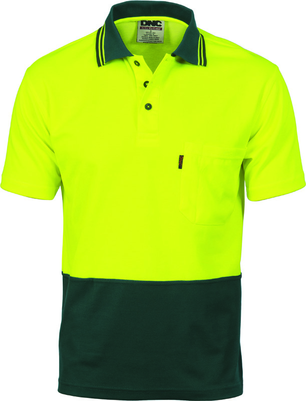 DNC Back Hi Vis Two Tone Fluoro Polo S/S