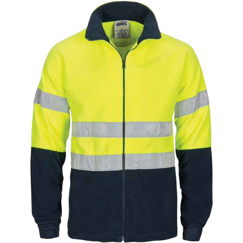 DNC HiVis two tone full zip polar fleece with M3 Tape