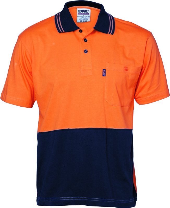 DNC Hi Vis Cotton Polo Shirt