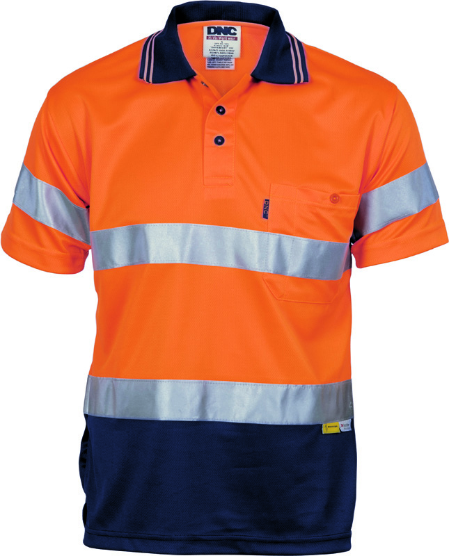 DNC Hi Vis D/N Cool Breathe Polo Shirt With 3M tape S/S