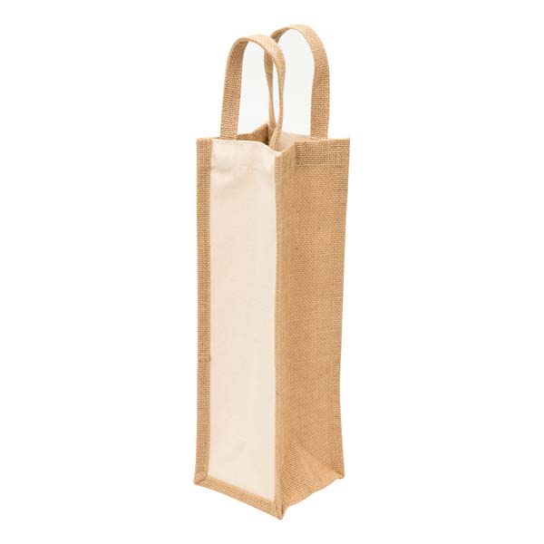 Eco Jute 1 Bottle Wine Bag
