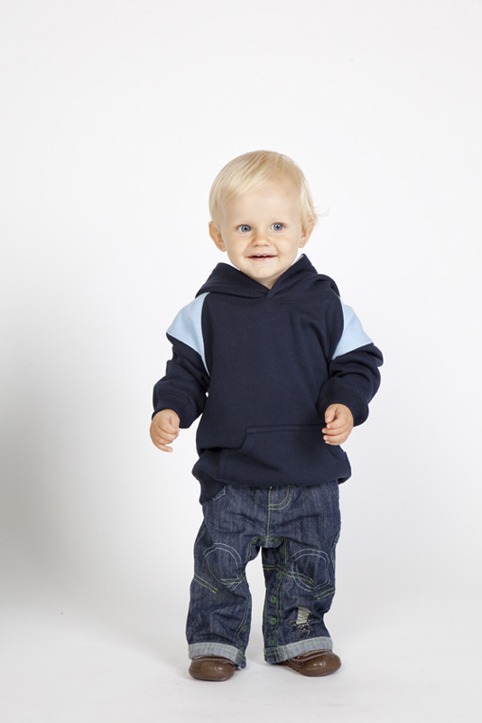 Two Tone Fleece Baby Hoodie