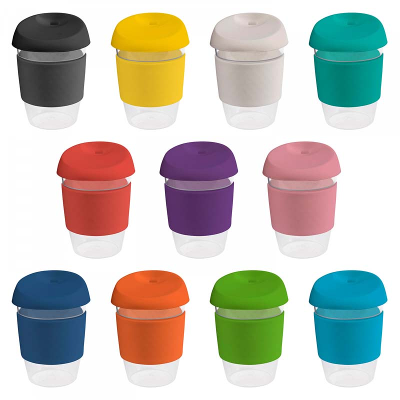 12oz/340ml Clear Plastic Karma Kup with Silicon Lid
