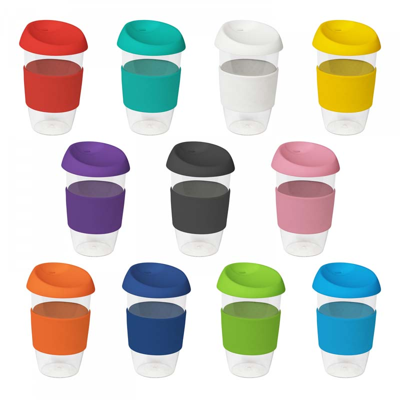 Clear Plastic Karma Kup with Silicon Lid 535ml