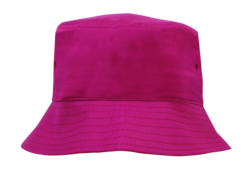 Breathable Poly Twill Youth Bucket Hat