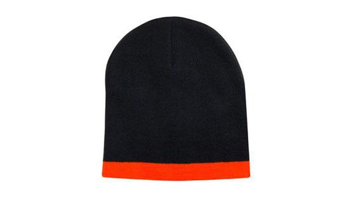 Roll Down Two Tone Acrylic Beanie