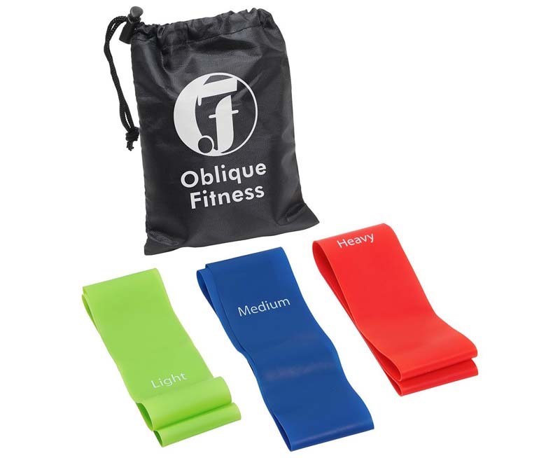3 Piece Fitness Band Set with Bag