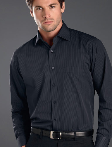 John Kevin Dark Stripe Shirt