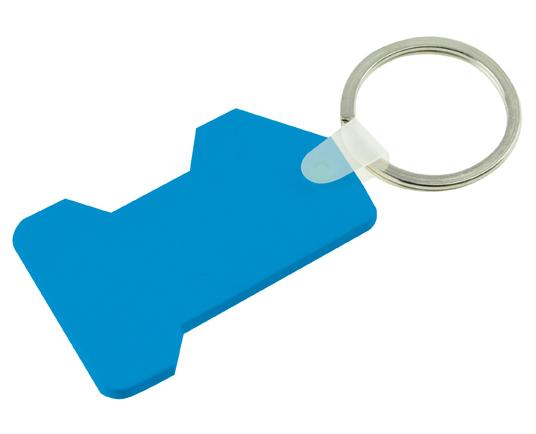 No.1 PVC Keyring