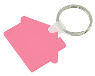 House Shaped PVC Keyring