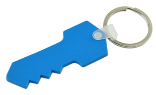Key Shaped PVC Keyring