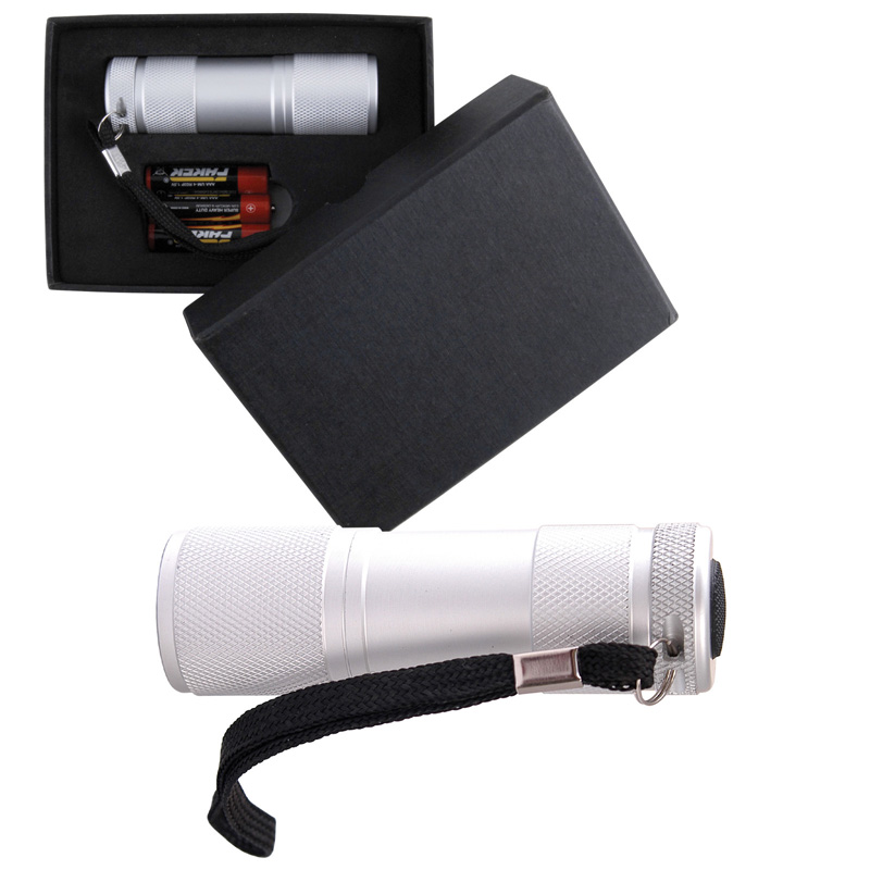 Silver Aluminium LED Torch