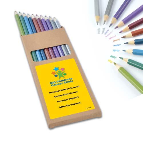 Metallic Full Length Colouring Pencils