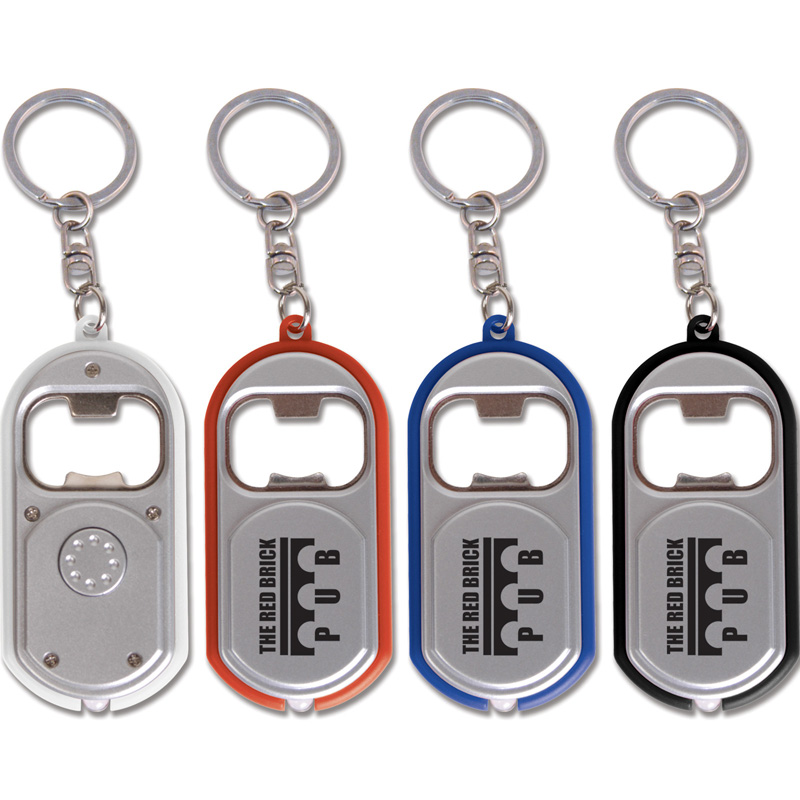 Bottle Opener Keytag With Light