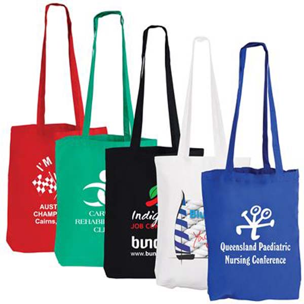 Coloured Cotton Long Handle Conference Bag