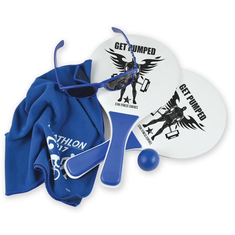Summer Beach Kit- Bat & Ball Set, Towel and Sunglasses