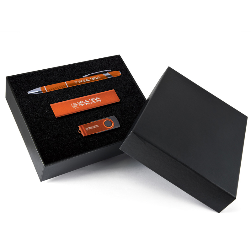 Miami USB, Pen & Power Bank Gift Set