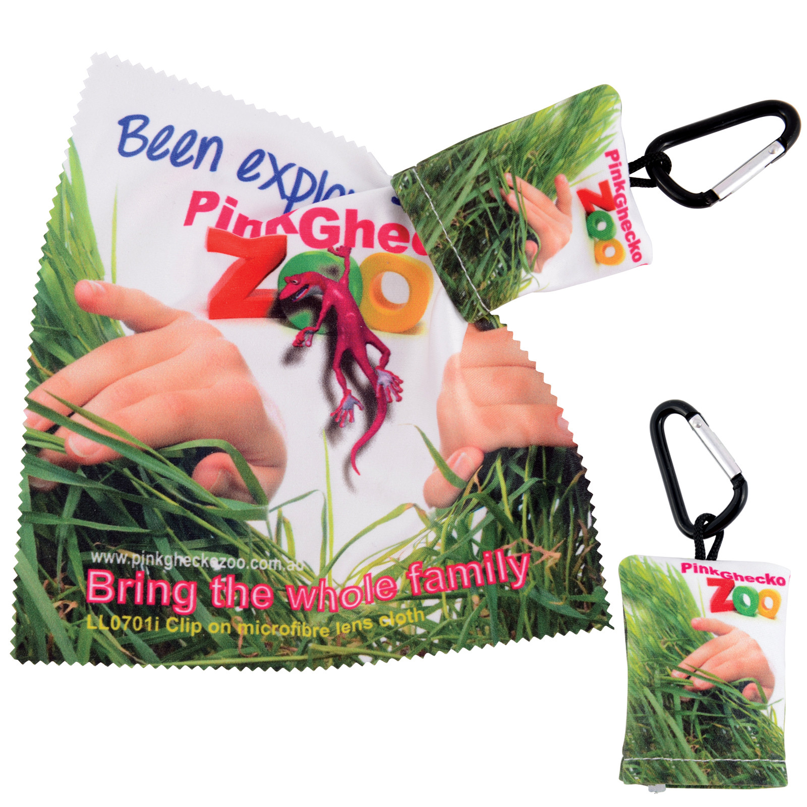 Microfibre Lens Cloth in Pouch with Carabiner