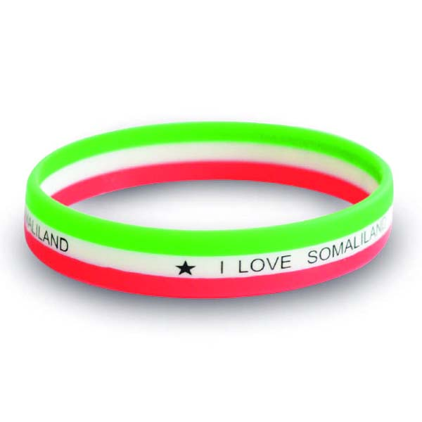 Coloured stripe wristband