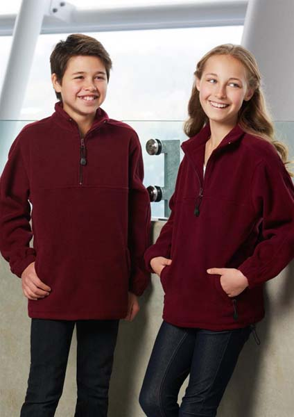 Kids 1/2 Zip Polar Fleece Top