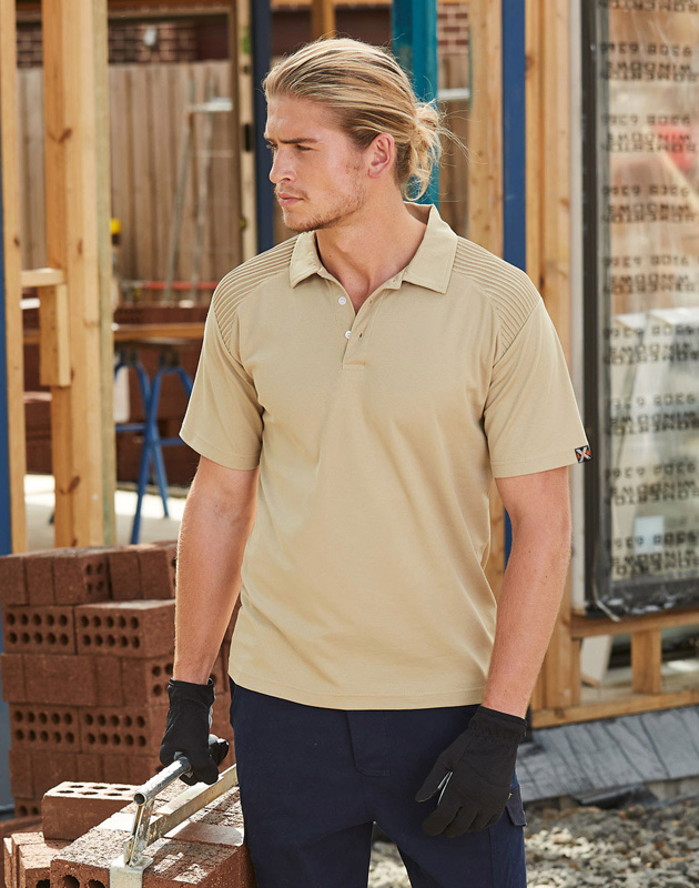 Panelled Work Polo Shirt