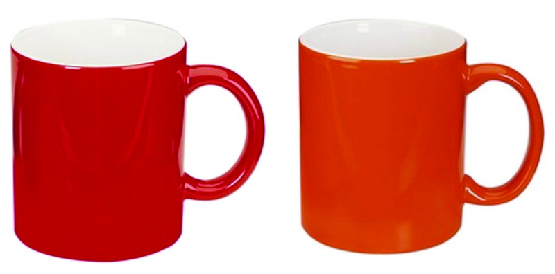 Two Tone Promo Coffee Mug Red/White & Orange/White