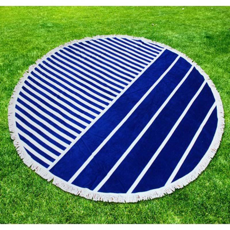 Round Beach Towel with Fringe