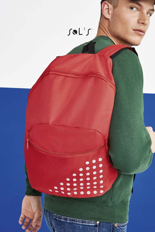 Cosmo Polyester Backpack with Reflective Detail