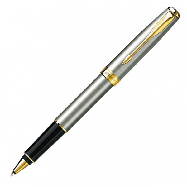 Parker New Sonnet Rollerball Pen- Brushed Stainless