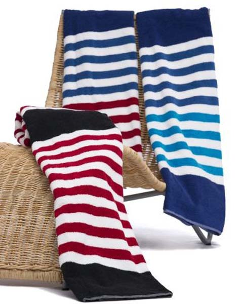 Seaside Stripe beach towel