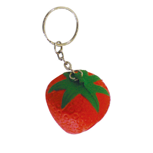 Stress Strawberry Key Ring