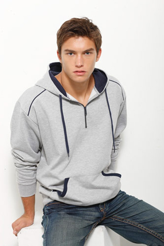 Half Zip Hooded Top