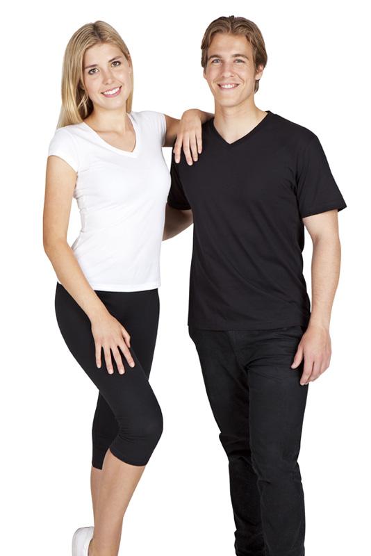 Mens & Ladies V neck T-shirts