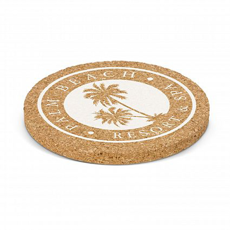 Round Oakridge Cork Coaster