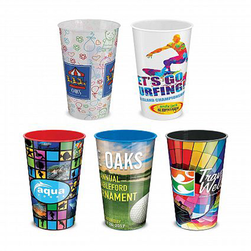 500ml Full Colour Print Plastic Cup