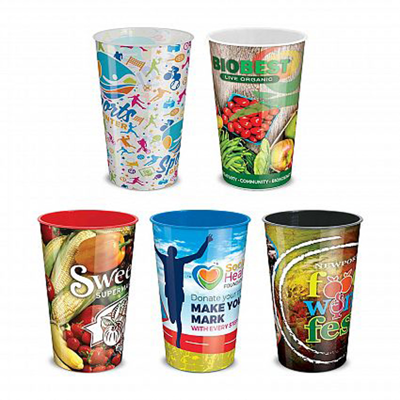 750ml Full Colour Print Plastic Cup