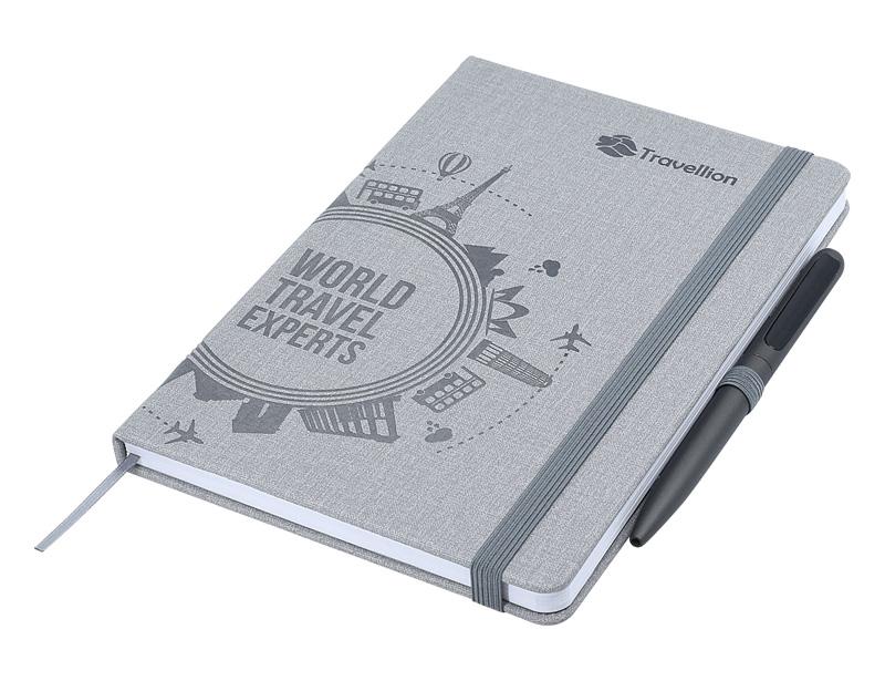 Designa Deboss Linen Notebook A5 Sea