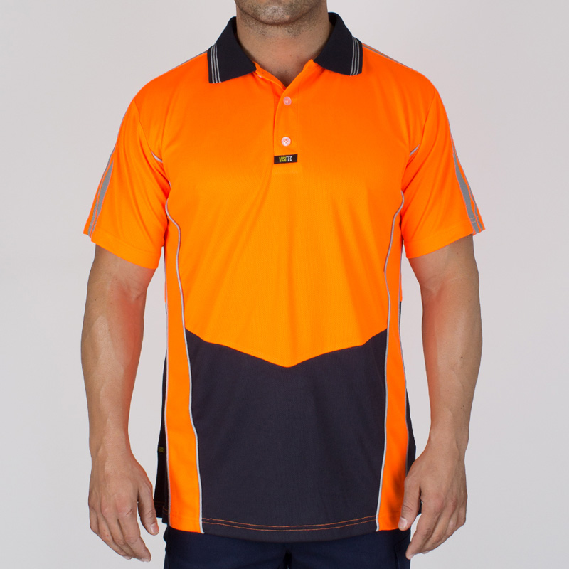 VISITEC Racing Stripe Microfibre Polo