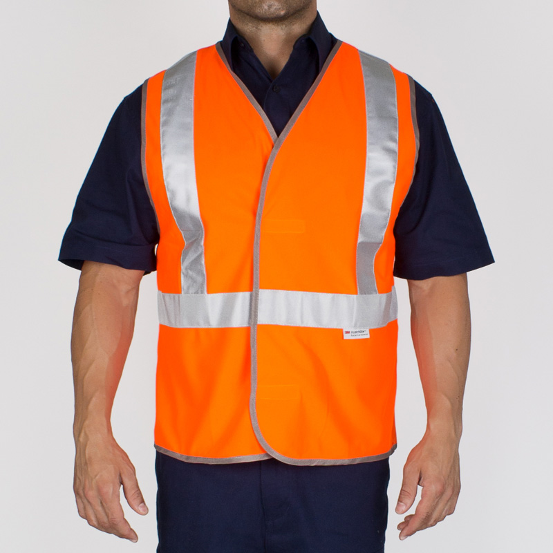 Visitec Hi Vis Velcro Vest - Day and Night