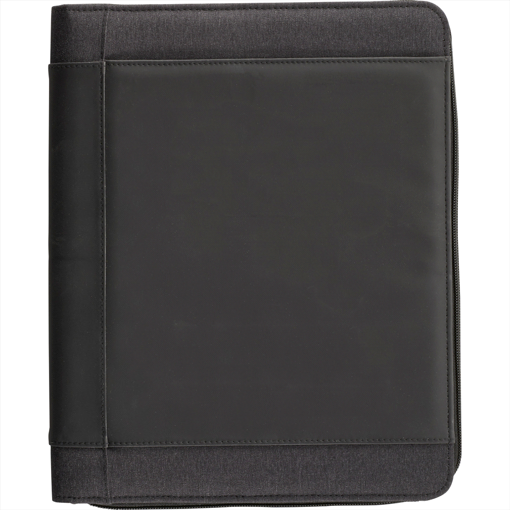 Zoom 4000 mAh Wireless Charging Zippered Padfolio