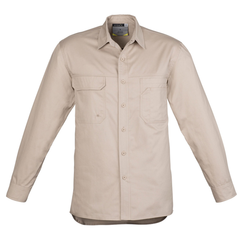 Syzmik Lightweight Long Sleeve Tradie Shirt